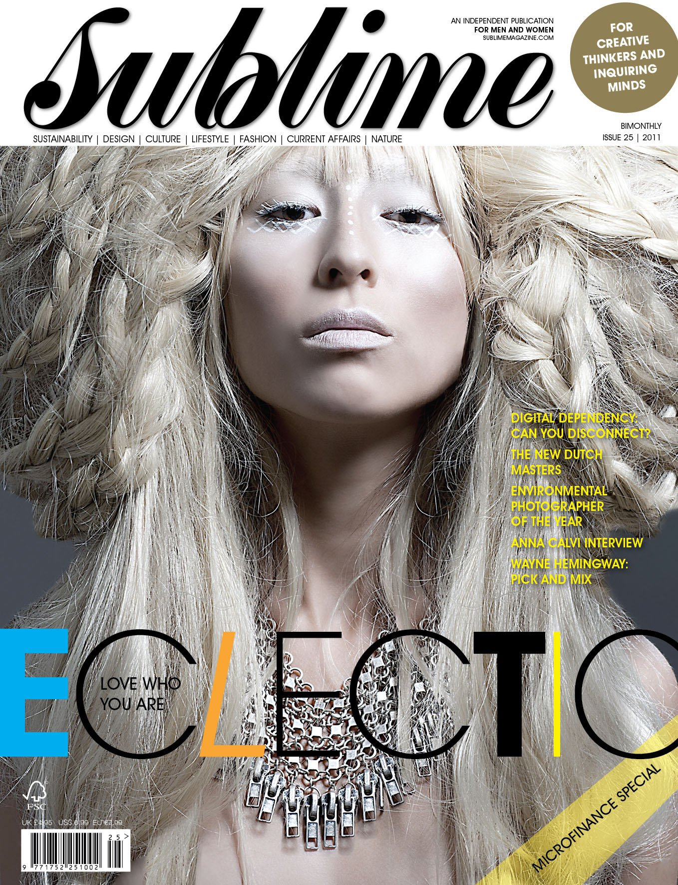 Sublime Front cover Issue 25 Photography by GEORGINA BOLTON KING