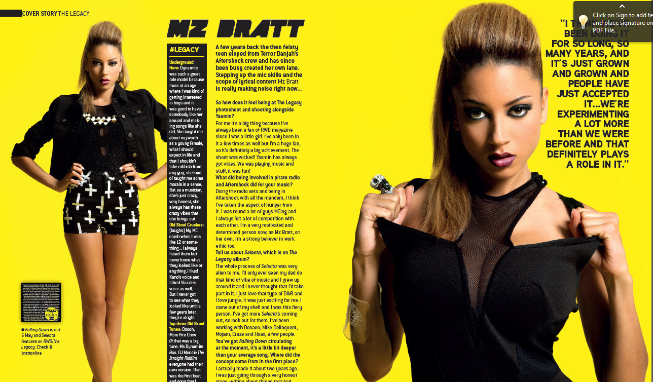 YASMIN AND MZ BRATT RWD Issue 123 The Legacy