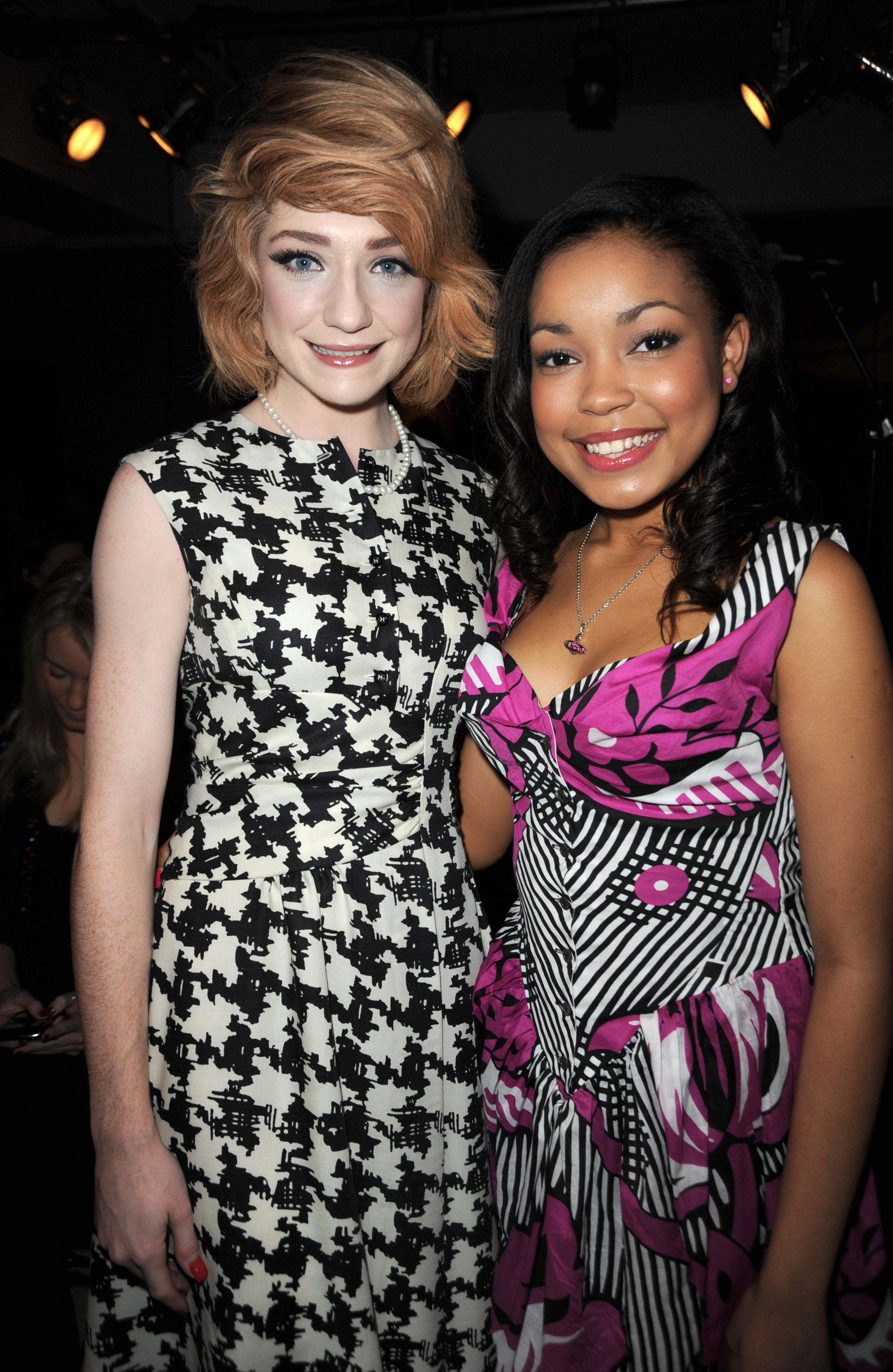 DIONNE BROMFIELD and NICOLA ROBERTS at Anglomania by Vivienne Westwood S/S  2010 Fashion show. Photography by RICHARD YOUNG
